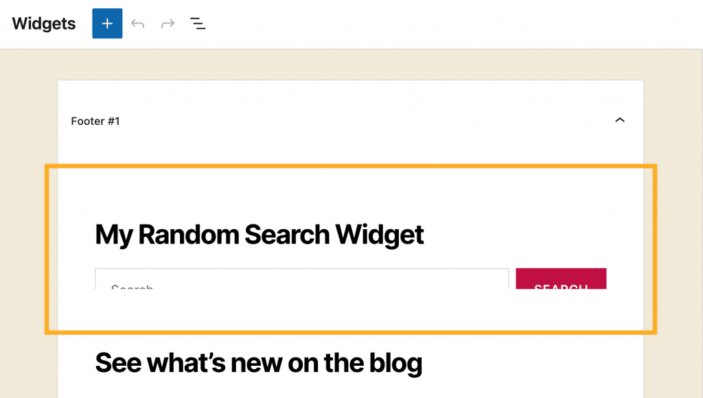 Screen shot of Search Widget with the bottom half not rendering correctly as it is cut off.